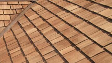 clean cedar roof