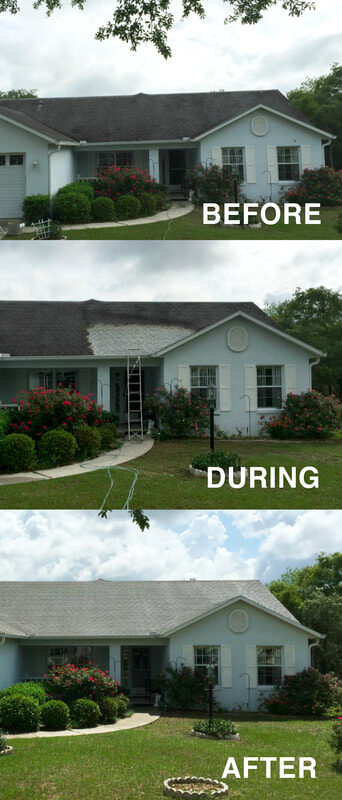 roof shingle cleaning